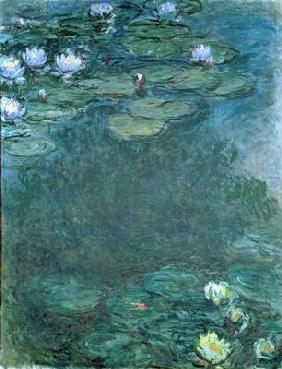 Water-Lilies (oil on canvas) 1856