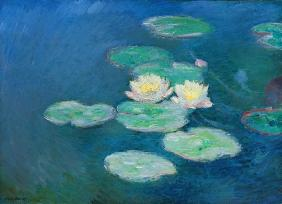 Monet, Claude : Waterlilies, Evening