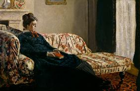 Meditation. Madame Monet au canape 1871