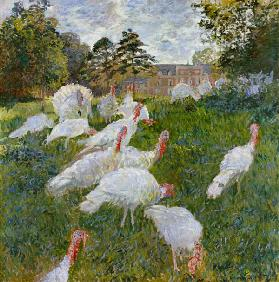 The Turkeys at the Chateau de Rottembourg, Montgeron 1877  canv