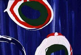 Detail (Young Flying Fish VI) 1996 (acrylic on canvas)