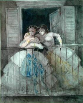 Girls on the Balcony 1855-60  o