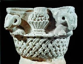 Capital in the form of a basket with ram's heads and grapes, from the Monastery of St. Jeremiah, Sak