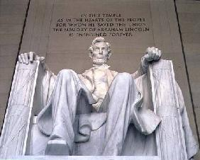 Abraham Lincoln (1809-65) from the foot of the chair 1914-20
