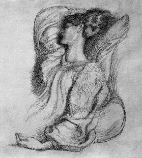 Jane Morris / Drawing by Rossetti