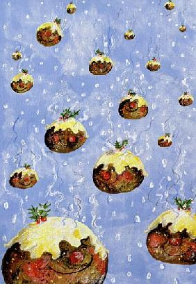 Christmas Puddings (gouache on paper)