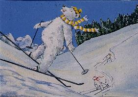 Polar Bears Skiing