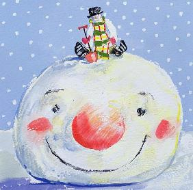 The Snowman''s Head (gouache on paper)