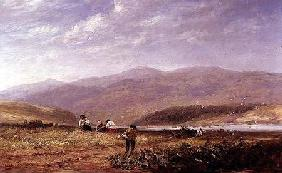 Haymakers in a Welsh Landscape 1852