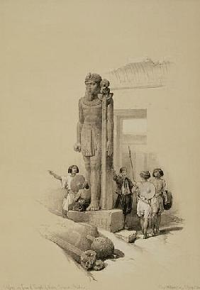 Colossus in front of the Temple of Wady Sabona, Ethiopia