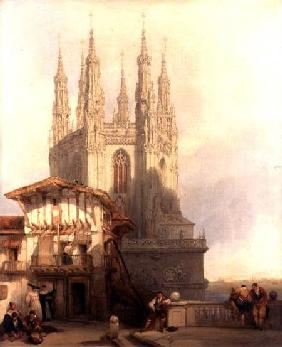 The Entrance to the North Transept, Burgos Castle 1835