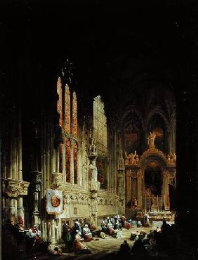 Interior of a Cathedral 1822 or 18