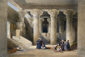 Interior of the Temple at Esna, Upper Egypt, from ''Egypt and Nubia''; engraved by Louis Haghe (1806