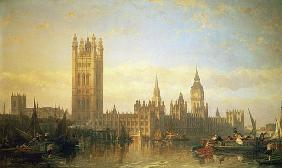 New Palace of Westminster from the River Thames