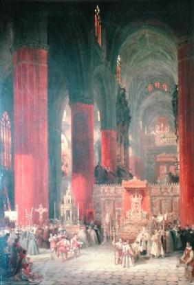 Procession in Seville Cathedral 1833