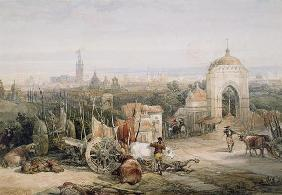 Seville from the Cruz del Campo, 1835 (w/c and gouache over pencil on paper) 15th