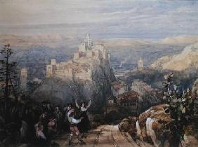 The Town and Castle at Loja, Spain 1834  on
