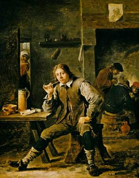 A Smoker Leaning on a Table 1643