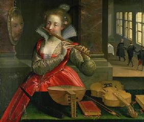 Allegory of Music (the Fluteplayer), c.1600