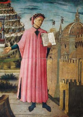 Dante reading from the 'Divine Comedy' (detail) 1465