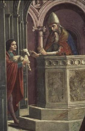 Joachim making his Offering, from the Expulsion of Joachim from the Temple