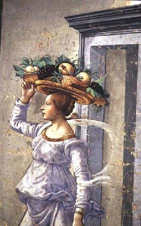 Woman carrying Fruit, from the Birth of St. John the Baptist