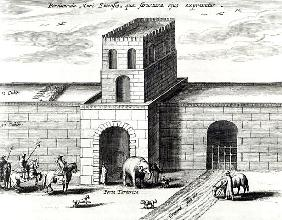 A Doorway in the Great Wall,from ''China illustrated'' Athanasius Kircher (1601-80) 1667