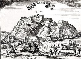 Bietala, fortress of Lama the Great, Kingdom of Lhassa,illustration from ''La Chine illustree'' Atha