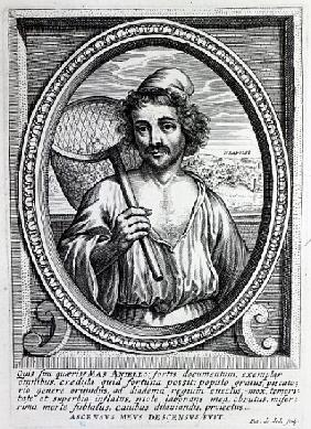 Masaniello; engraved by Petrus de Iode