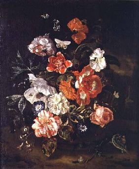 Still Life of Flowers in a Vase 1713