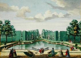 View from the bower over the great lake, from 'Het Zeganplant Kennemerlant', by Hendrick de Leth and published