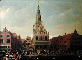 View of the Weighhouse and the Cheese Market at Alkmaar