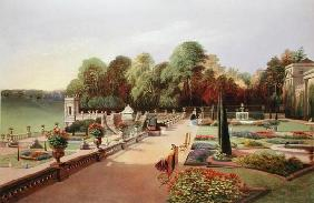 The Upper and Lower Terrace Gardens at Bowood, from 'Gardens of England', published 1857 (chromolith 19th
