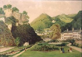 Matlock Bath from the grounds of the Bath Hotel 1895