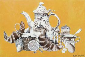 Breakfast, 1993 (acrylic on paper)