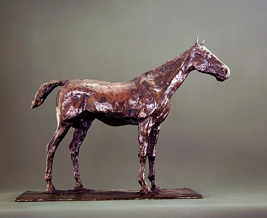 standing horse bronze edgar degas als kunstdruck oder. Black Bedroom Furniture Sets. Home Design Ideas