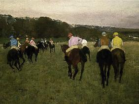 Rennpferde in Longchamp 1873/75