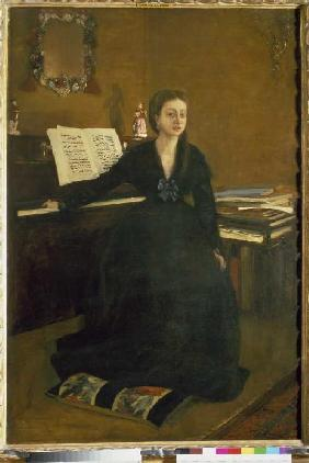 Madame Camus am Piano. 1869