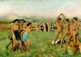 Young Spartans Exercising c.1860