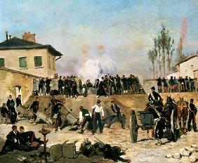 Kunstdruck von Edouard Detaille - The Battle of Villejuif, Siege of Paris