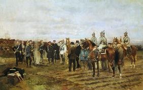 Kunstdruck von Edouard Detaille - The Hostages: Souvenir of the 1870-71 Campaign