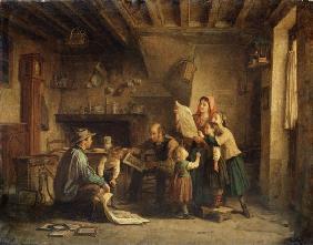 Kunstdruck von Edouard Frère - The Art Dealer