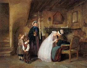 Kunstdruck von Edouard Frère - The First Communion