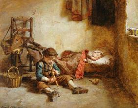 Kunstdruck von Edouard Frère - The Lullaby