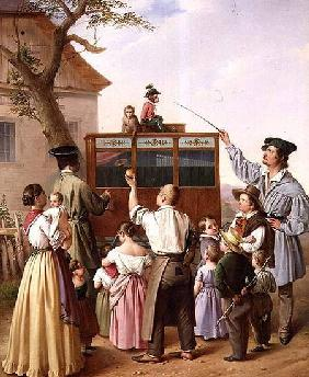 The travelling organ grinder 1842