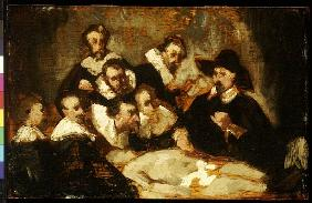 The Anatomy Lesson, after Rembrandt, c.1856