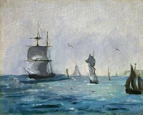 Fishing Boat Arriving, with the Wind Behind 1864