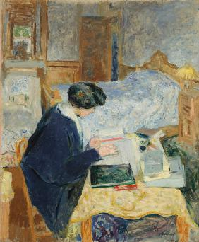 Lucy Hessel beim Lesen (Lucy Hessel lisant) 1913