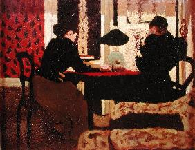 Women by Lamplight, 1892 (oil on canvas)