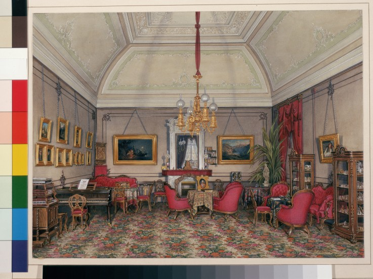 Die Interieurs des Winterpalastes. Das f - Eduard Hau als Kunstdruck ...